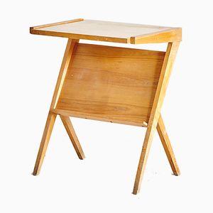 Vintage Ash Wood Side Table, 1970s