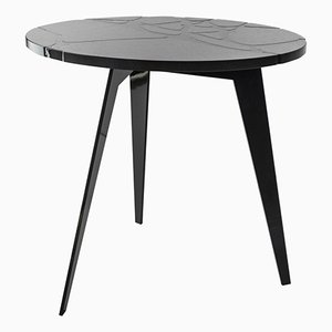 Round Filodifumo Outdoor Table in Lava Stone and Steel by Riccardo Scibetta & Sonia Giambrone for MYOP