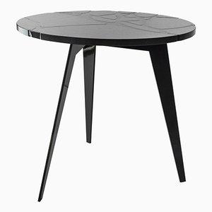 Runder Filodifumo Outdoor Tisch aus Lavagestein & Stahl von Riccardo Scibetta & Sonia Giambrone für MYOP