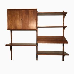 Vintage Teak Wall Unit by Poul Cadovius for Cado, 1960s