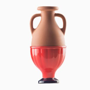 #04 Mini HYBRID Vase in Cobalt-Red by Tal Batit