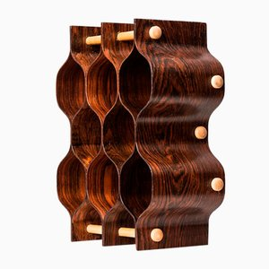 Rosewood & Beech Wine Rack by Torsten Johansson for AB Formträ, 1950s