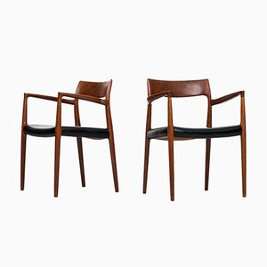 Model 57 Armchairs by Niels O. Møller, 1960s, Set of 2