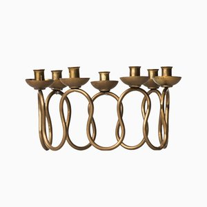 Brass Candleholder by Lars Holmström, 1950s