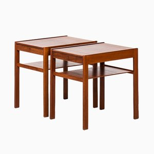 Tables de Chevet Dixi par Sven Engström & Gunnar Myrstrand pour Tingströms, 1950s, Set de 2
