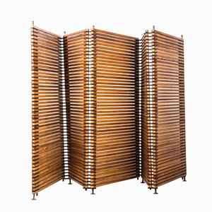 Finnish Pine & Brass Room Divider, 1960s