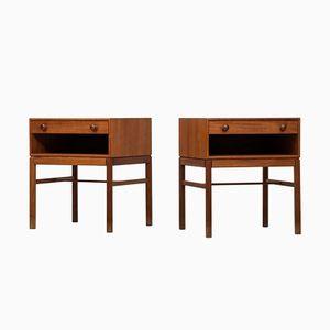 Tables de Chevet Casino par Sven Engström & Gunnar Myrstrand pour Tingströms, 1960s, Set de 2