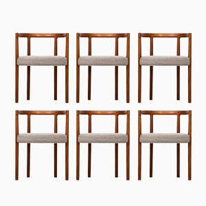 Modell 195 Esszimmerstühle von Ole Gjerløv-Knudsen für France & Søn, 1960er, 6er Set