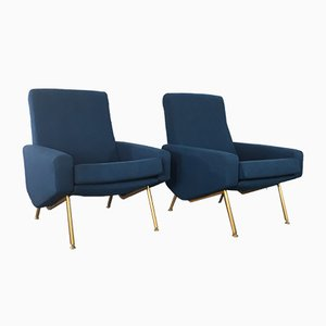 Vintage Troïka Lounge Chairs by Pierre Guariche for Airborne, Set of 2