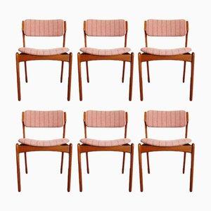 Chaises de Salle à Manger en Teck par Erik Buch pour Oddense Maskinsnedkeri, 1960s, Set de 6