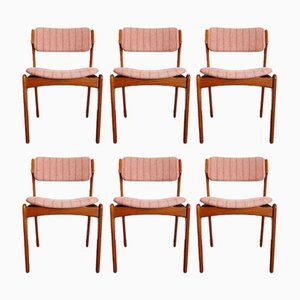 Teak Dining Chairs by Erik Buch for Oddense Maskinsnedkeri, 1960s, Set of 6