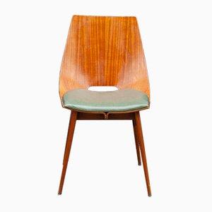 Italian Teak & Bentwood Dining Chairs, 1950s, Set of 6