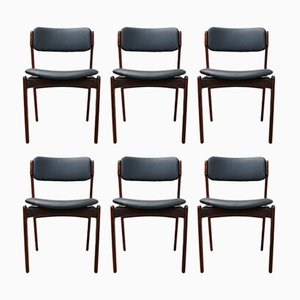 Model 49 Rosewood Dining Chair by Erik Buch for Odense Maskinsnedkeri, 1960s, Set of 6