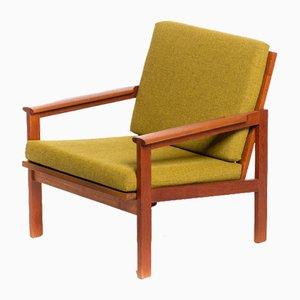 Capella Chair mit massivem Teak Frame von Illum Wikkelsø von N. Eilersen, 1960er