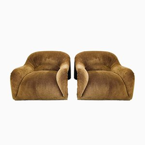 Italian Lounge Chairs, 1970s, Set of 2
