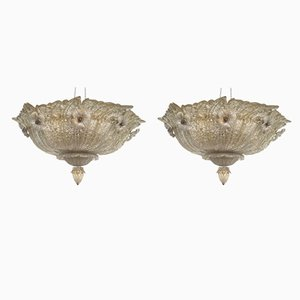 Ceiling Lights from Barovier & Toso, 1960s, Set of 2