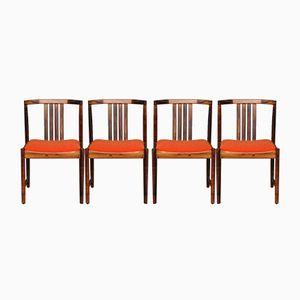 Niederländische Vintage Palisander Esszimmerstühle, 4er Set