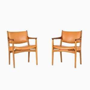 JH 525 Armchairs by Hans J. Wegner for C.M. Madsen, 1950s, Set of 2