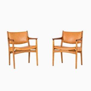 JH 525 Armlehnstühle von Hans J. Wegner für C.M. Madsen, 1950er, 2er Set