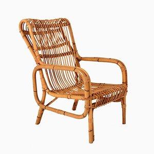 Italienischer Vintage Bambus Sessel, 1960er