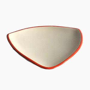 French Triangular-Shaped Flat Bowl by Denise Gatard, 1960s