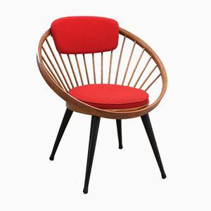 Danish Oak Hoop Chair by Yngve Ekstrom, 1960s
