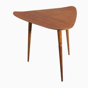 Teak Beistelltisch mit geschwungener Tischplatte, 1950er