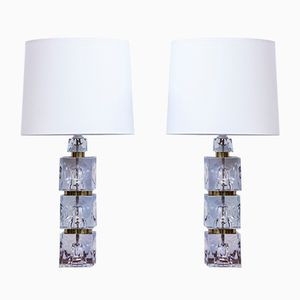 Swedish Glass Table Lamps, 1960s