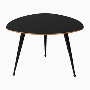 Mid-Century Black Lacquered Coffee Table