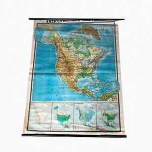 Nordamerika Landkarte von De Agostini, 1971