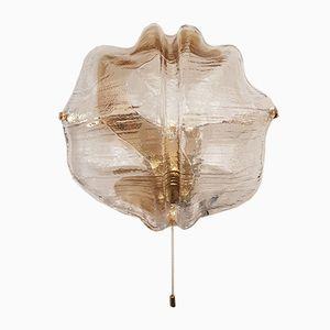 Eisglas Wandleuchten von J.T. Kalmar für Franken KG, 1960er