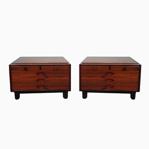 Rosewood Bedside Tables by Gianfranco Frattini for Bernini, 1950s, Set of 2