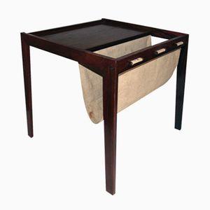 Dänischer Vintage Palisander Tisch mit Ablage von Bent Silberg