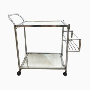Vintage Chrome Trolley with Mirror, 1970s