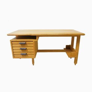 Vintage Oak Desk by Guillerme & Chambron for Votre Maison