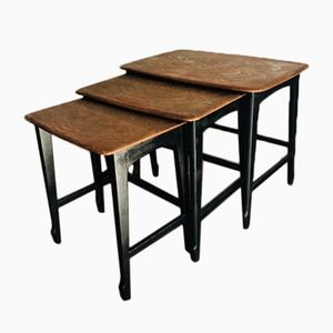 Mid-Century Walnut Nesting Tables