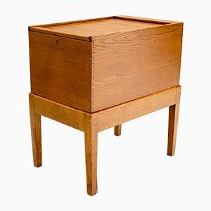 Oak Tambour Filing Cabinet, 1920s