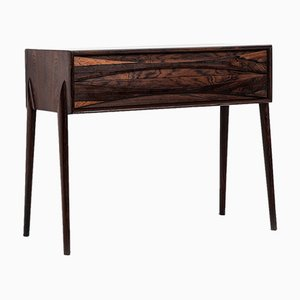 Mid-Century Rosewood Side Table by Rimbert Sandholt for Glas & Trä Hovmantorp
