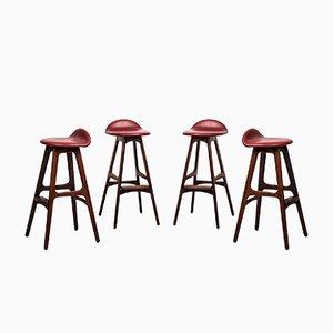 Tabourets de Bar OD-61 par Erik Buch pour Odense Møbelfabrik, Set de 4