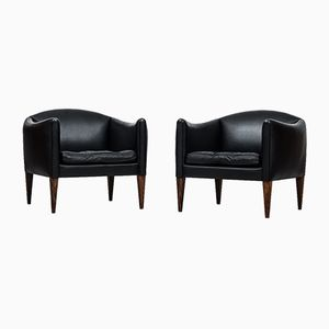 Mid-Century Easy Chairs by Illum Wikkelsø for Søren Willadsen Møbelfabrik, Set of 2