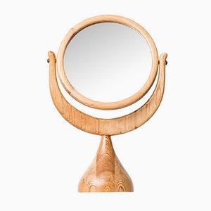 Mid-Century Miroir de Table par Erik Höglund pour Boda Trä