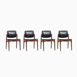 Captain Dining Chairs by Erik Buch for Ørum Møbelsnedkeri, 1960s, Set of 4