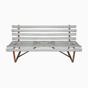 Industrial Steel & Pine Garden Bench