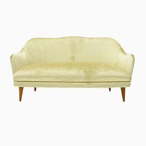 Italienisches Samt Sofa, 1950er