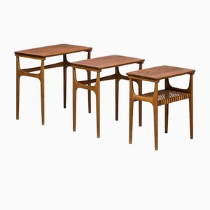Model 15 Nesting Tables by Erling Torvits for Heltborg Møbler, 1950s
