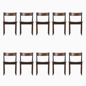 Modell 39 Esszimmerstühle von Henry Rosengren Hansen für Brande Møbelfabrik, 1960er, Set of 10