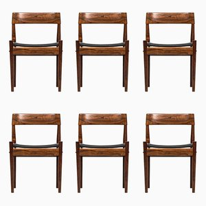 Danish P J-3-2 Dining Chairs by Grete Jalk for Poul Jeppesen, 1960s, Set of 6