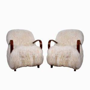 Armchairs by Jindrich Halabala, 1930s, Set of 2