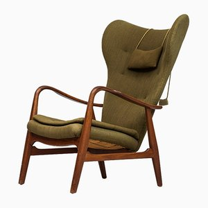 Wingback Easy Chair by Ib Madsen & Acton Schubell for Madsen & Schubell, 1950s