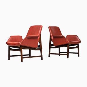 Model 451 Easy Chairs by Illum Wikkelsø for Aarhus Polstrermøbelfabrik, 1958